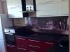 Кухня + стеклянная стеновая панель с рисунком