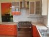 Кухня + стеновая панель стекло с рисунком